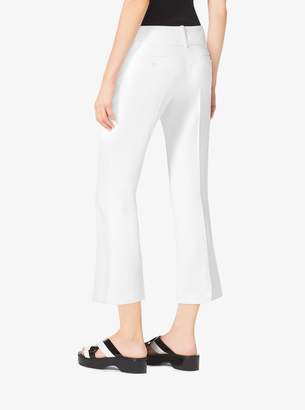 Michael Kors Flared Double Crepe-Sable Cropped Pants