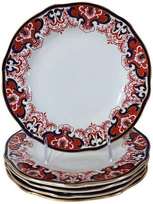 One Kings Lane Vintage Antique Royal Crown Derby Plates - Set of 5 - Rose Victoria