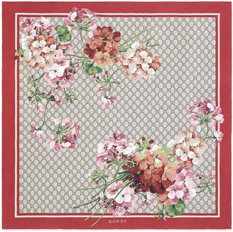 GG Blooms print silk scarf $470 thestylecure.com
