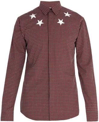 Givenchy Star-print checked cotton shirt