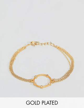 Dogeared (ドギャード) - Dogeared Gold Plated Infinity & One Halo Bracelet
