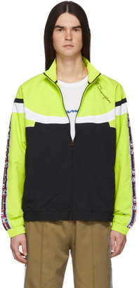 Champion Reverse Weave Green and Black Full Zip Track Jacket