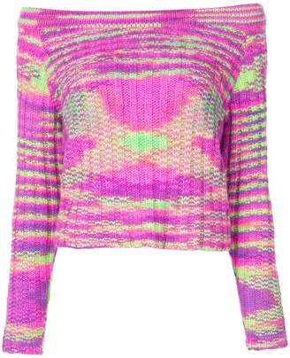The Elder Statesman off-the-shoulder cashmere sweater