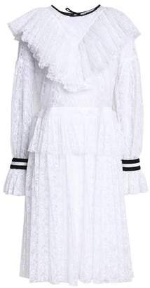 MSGM Ruffle-Trimmed Lace Dress
