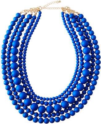 Stella & Ruby Multi-Strand Bauble Necklace, Blue