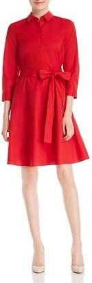 Paule Ka Belted A-Line Shirt Dress