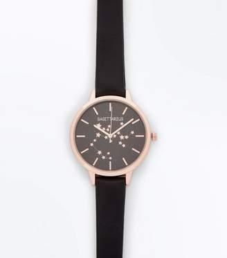 New Look Black Sagittarius Horoscope Dial Watch