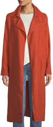 Eileen Fisher Heavy Organic Linen Trench Coat, Petite