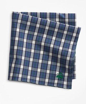 Brooks Brothers Supima Cotton Check Pocket Square
