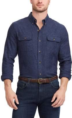 Chaps Big & Tall Regular-Fit Utility Button-Down Shirt