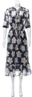 Emporio Armani Knee-Length Floral Print Dress w/ Tags