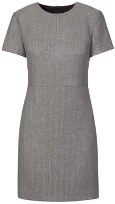 Banana Republic Petite Metallic Herringbone Shift Dress