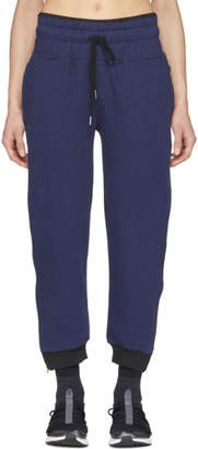 adidas by Stella McCartney Navy and Black Essentials Zip Sweatpants