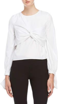Milly White Lorna Striped Bandeau Shirt