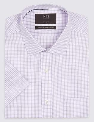 Marks and Spencer Short Sleeve Non-Iron Regular Fit Shirt