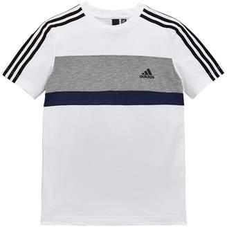 adidas Boys Tee - White