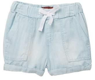 "7 For All Mankind 2\"" Light Weight Denim Shorts (Little Girls)"