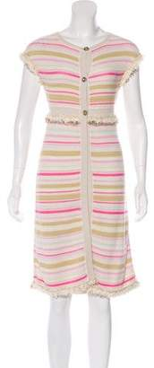 Chanel Metallic Striped Cardigan