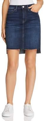 Mavi Jeans Mila Denim Skirt in Deep Frayed Tribeca