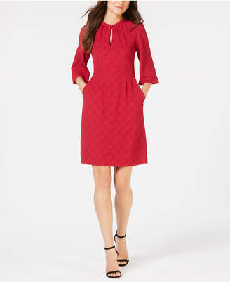 Nanette Lepore 3/4-Sleeve Keyhole Dress, Created for Macy's