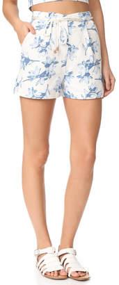 J.O.A. Flower Print Shorts $70 thestylecure.com