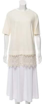 Lela Rose Oversize Embroidered Tunic