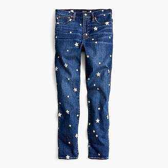 J.Crew Vintage straight jean with star print