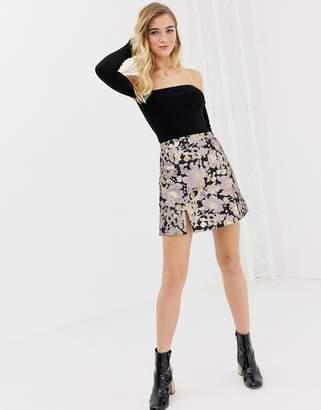 Glamorous brocade skirt