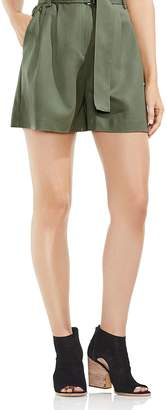 Vince Camuto High-Waist Belted Shorts
