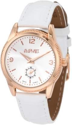 August Steiner Women's ASA821RG Swiss Quartz Classic Dress Strap Watch
