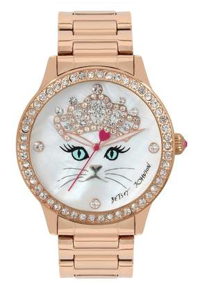Betsey Johnson Women's Kitty Princess Watch, 40mm