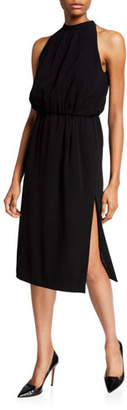 Aspesi Halter Tie-Neck Knee-Length Dress