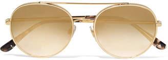 Dolce & Gabbana Aviator-style Gold-tone Sunglasses - one size