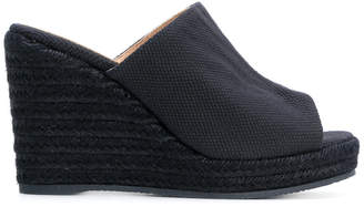 Castaner peep toe platform wedge sandals