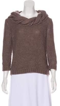 Tibi Braided Long Sleeve Sweater