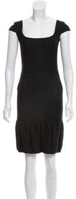 Valentino Jacquard Sheath Dress