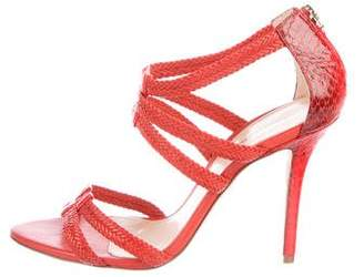 Alexandre Birman Leather Ankle Strap Sandals