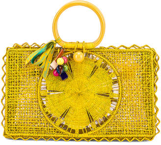 Silvia Tcherassi for FWRD Riomar Keychain Bag in Yellow | FWRD