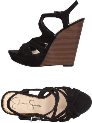 Jessica Simpson Black Wedge Sandals For Women ShopStyle