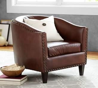 Pottery Barn Harlow Leather Armchair