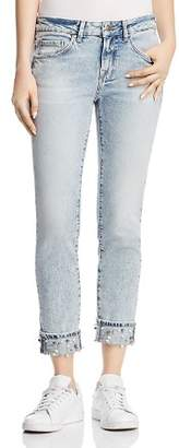 Mavi Jeans Ada Cuff Straight Jeans in Reversed Pearl
