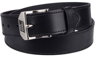 Dickies Men's Leather Work Belt with Polished Nickel Buckle