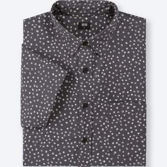 Uniqlo MEN Broadcloth Printed Short Sleeve Shirt
