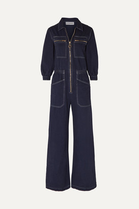 L.F.Markey - Dante Cotton-drill Jumpsuit - Midnight blue