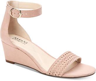 Alfani Women's Tamirra Step 'N Flex Wedge Sandals