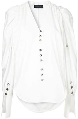 Eudon Choi V-neck button blouse