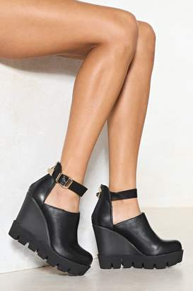 Nasty Gal Gimme More Vegan Leather Wedge