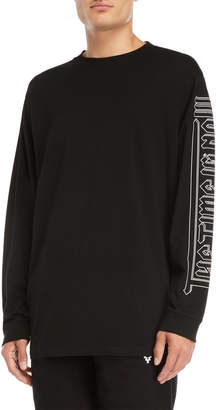 Marcelo Burlon County of Milan Black Wilon Long Sleeve Tee