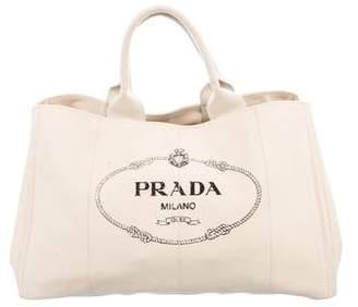 Prada Canapa Shopping Tote