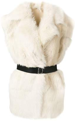 IRO belted fur gilet